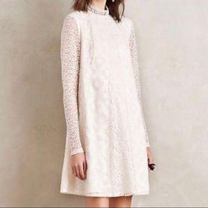 Anthropologie HD in Paris lace cream dress